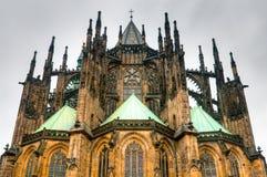 Cathédrale de rue Vitus photo libre de droits