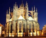 Cathédrale de rue Vitus Images stock