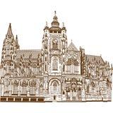 Cathédrale de rue Vitus Photos libres de droits