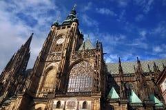 Cathédrale de rue Vitus de Prague Photos libres de droits