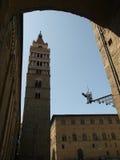 Cathédrale de rue Zeno - Pistoie photos libres de droits