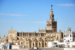 Cathédrale de Séville avec le Giralda Photos stock