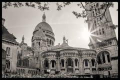 Cathédrale de Sacre Coeur pendant le printemps à Paris, France Photo stock
