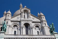 Cathédrale de Sacre Coeur sur Montmartre, Paris, France Photos stock