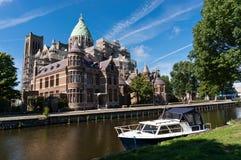 Cathédrale de saint Bavo à Haarlem Images stock