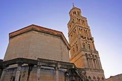 Cathédrale de saint Domnius, fente Photo stock