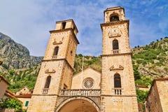 Cathédrale de saint Tryphon dans Kotor Photos libres de droits
