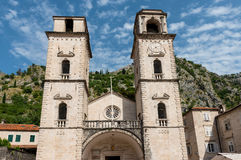 Cathédrale de saint Tryphon dans Kotor image libre de droits