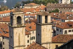 Cathédrale de saint Tryphon dans Kotor, Monténégro images stock