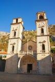 Cathédrale de saint Tryphon dans la vieille ville de Kotor, Monténégro Images stock