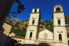 Cathédrale de saint Tryphon, Kotor, Monténégro Images libres de droits