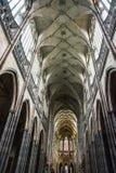 Cathédrale de saint Vitus dans le château de Prague Photographie stock libre de droits