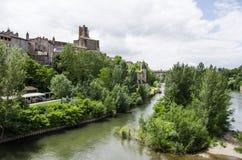 Cathédrale de Sainte-Cecile de vue d'Albi et de rivière des Frances d'Albi Image libre de droits