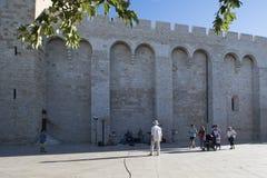 Cathédrale de Saintes-Maries-de-la-Mer, France Image stock