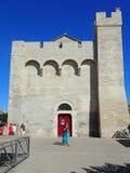 Cathédrale de Saintes-Maries-de-la-Mer, France Images libres de droits