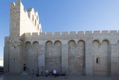 Cathédrale de Saintes-Maries-de-la-Mer, France Images stock