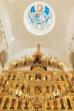 Cathédrale de Sakhaline avec des coupoles Photo stock