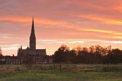 Cathédrale de Salisbury photos stock