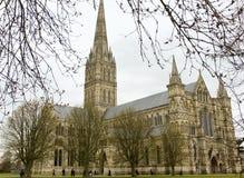 Cathédrale de Salisbury, Angleterre Photo libre de droits