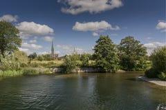 Cathédrale de Salisbury du vieux moulin Harnham Salisbury photos libres de droits