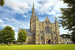 Cathédrale de Salisbury en Angleterre Images libres de droits