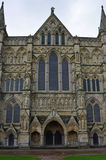 Cathédrale de Salisbury - Front Entrance occidental, Salisbury, WILTSHIRE, Angleterre Images libres de droits
