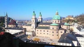 Cathédrale de Salzbourg, Autriche banque de vidéos