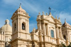 Cathédrale de San Nicolo - Noto Sicile Italie Photo stock