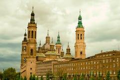 Cathédrale de Saragoza Photographie stock libre de droits