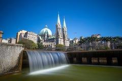 Cathédrale de Se à Sao Paulo du centre Images libres de droits