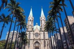 Cathédrale de Se à Sao Paulo du centre Image stock