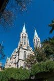 Cathédrale de Se à Sao Paulo du centre au Brésil Image stock