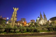 Cathédrale de Se dans le sao du centre Paulo Brazil Image stock