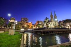 Cathédrale de Se dans le sao du centre Paulo Brazil Image libre de droits