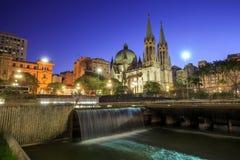 Cathédrale de Se dans le sao du centre Paulo Brazil Photos stock