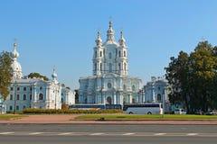Cathédrale de Smolny St Petersburg photographie stock