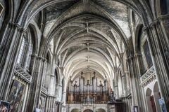 Cathédrale de St André en Bordeaux, France photographie stock libre de droits
