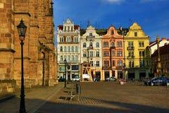 Cathédrale de St Bartholomew, vieille architecture, Pilsen, République Tchèque photo libre de droits