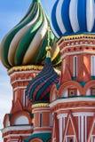 Cathédrale de St Basil à Moscou un jour ensoleillé Photos libres de droits