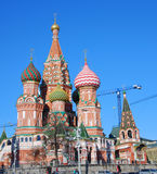 Cathédrale de St Basil, grand dos rouge, Moscou, Russie. Photographie stock