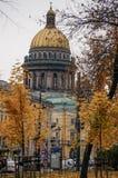 Cathédrale de St Isaac en automne Photographie stock
