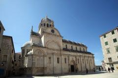 Cathédrale de St James dans Sibenik Photographie stock libre de droits