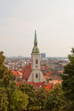 Cathédrale de St Martin (1452) Bratislava, Slovaquie Photographie stock libre de droits