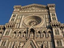 Cathédrale de St Mary de la fleur à Florence, Italie Détail de la façade Photos stock