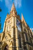 Cathédrale de St Paul sur la place de fédération à Melbourne, Victoria, Australie photo libre de droits