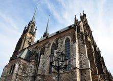 Cathédrale de St Peter et de St Paul, République Tchèque, l'Europe Image libre de droits