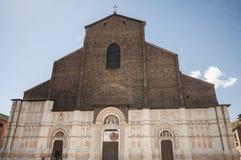 Cathédrale de St Petronio bologna L'Italie, juin 2017 Images stock