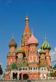 Cathédrale de St Vasily Blessed à Moscou Photos libres de droits