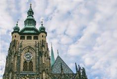 Cathédrale de St Vitus dans le château de Prague à Prague Images libres de droits