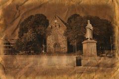 Cathédrale de Stavanger dans le rétro type Photo stock